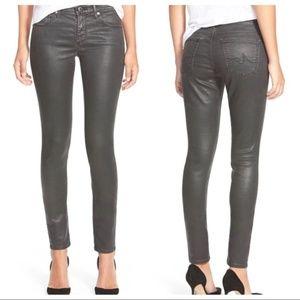AG | Super Skinny Vintage Leatherette Gray